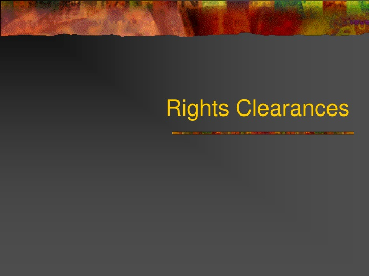 rights clearances n.