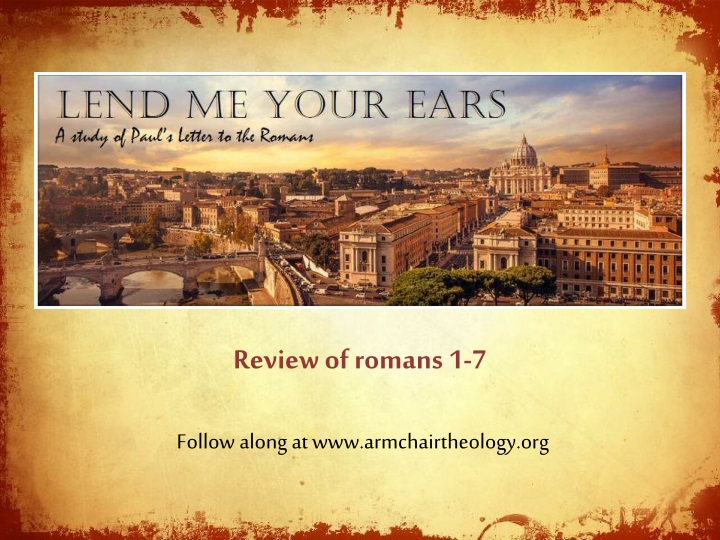 review of romans 1 7 n.