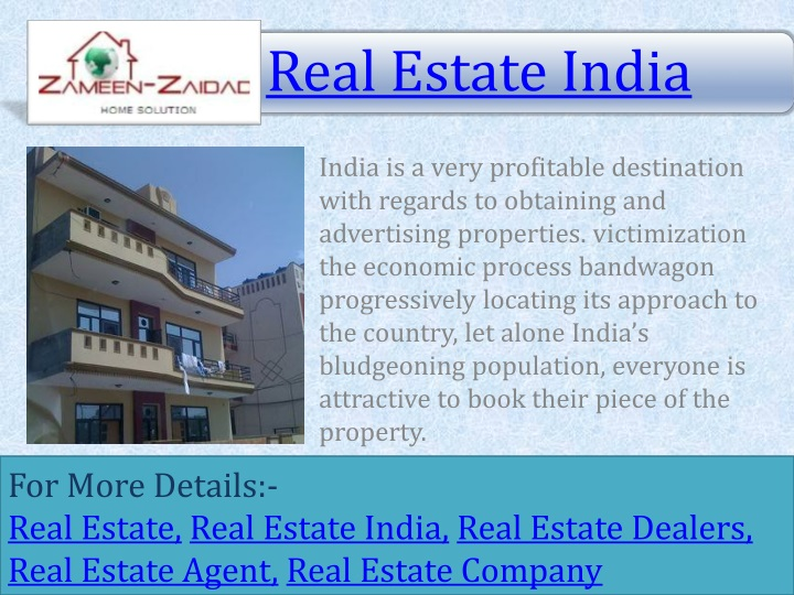 india is a very profitable destination with n.