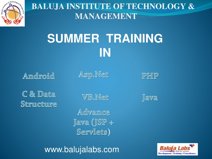 baluja institute of technology management n.