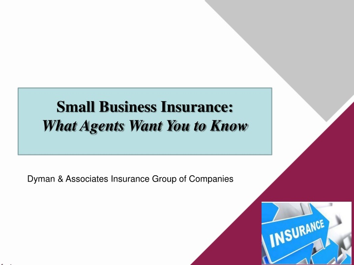 small business insurance what agents want n.
