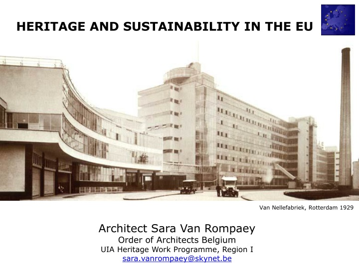 heritage and sustainability in the eu n.