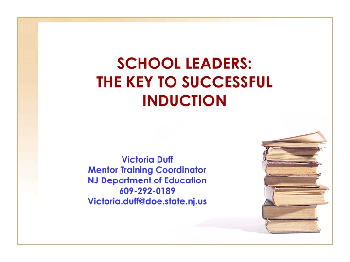 school leaders the key to successful induction n.