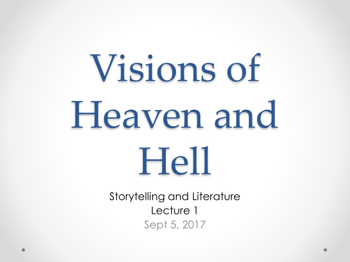 visions of heaven and hell n.
