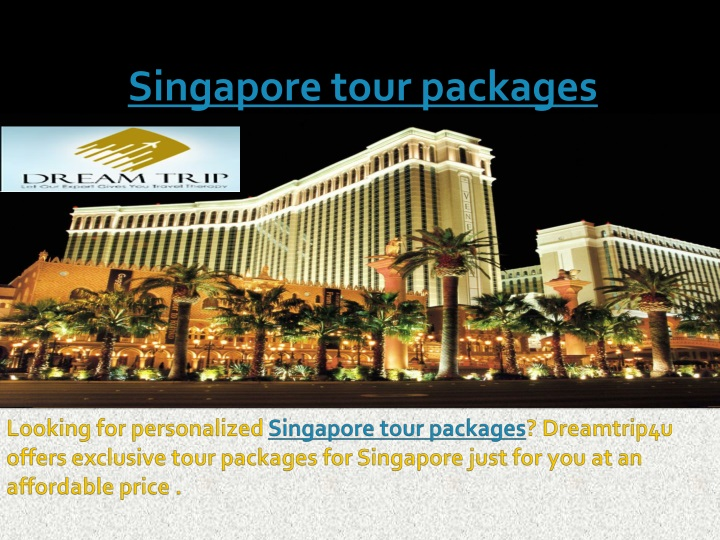 singapore tour packages n.