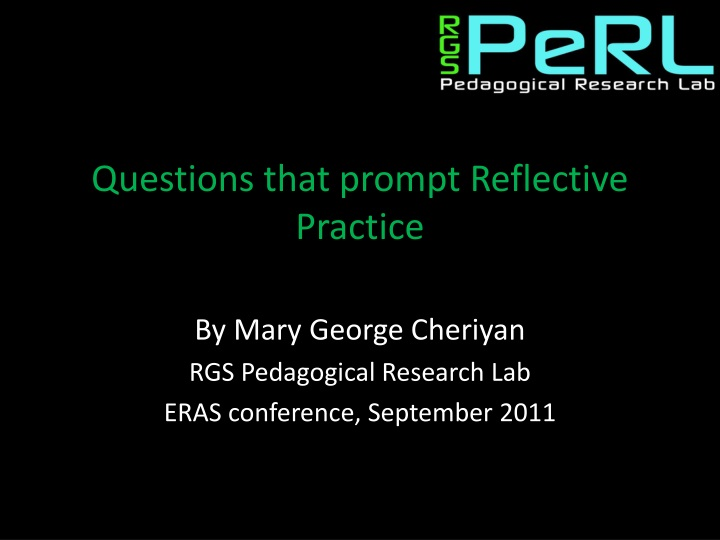 questions that prompt reflective practice n.