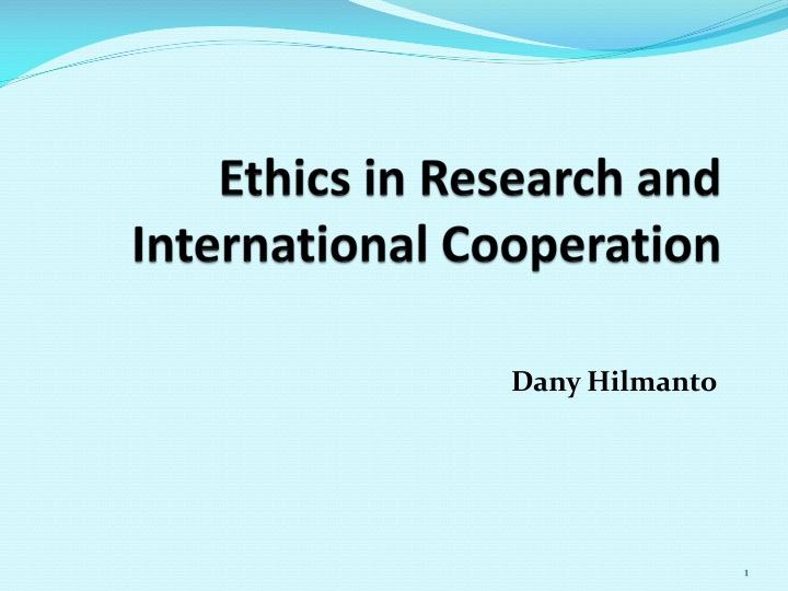 ethics in research and international cooperation n.