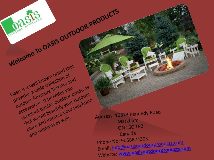 welcome to oasis outdoor products n.