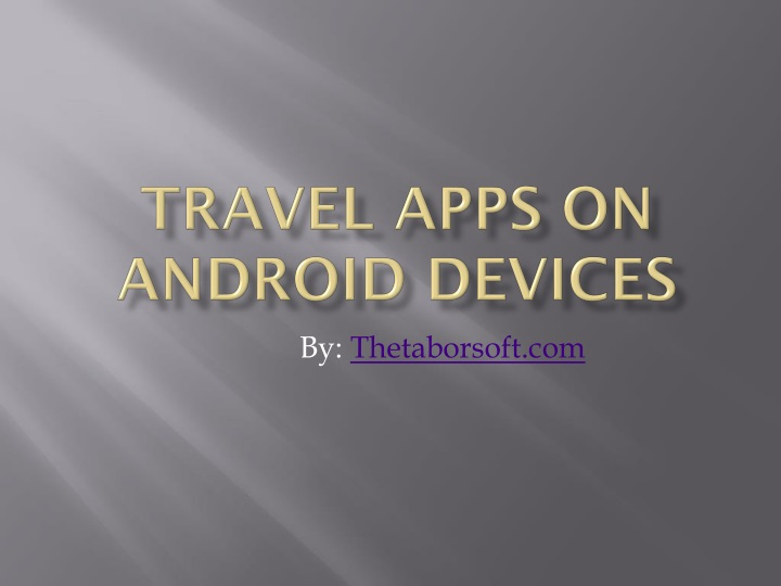 travel apps on android devices n.