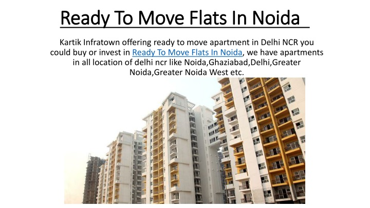 ready to move flats in noida n.