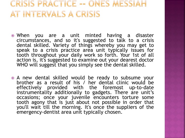 crisis practice ones messiah at intervals a crisis n.