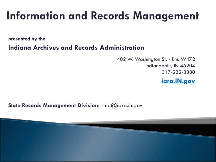 information and records management n.