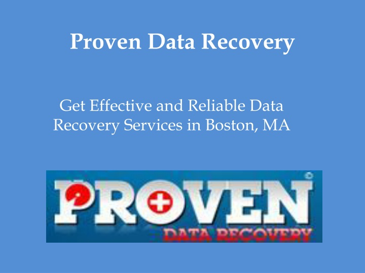 proven data recovery n.
