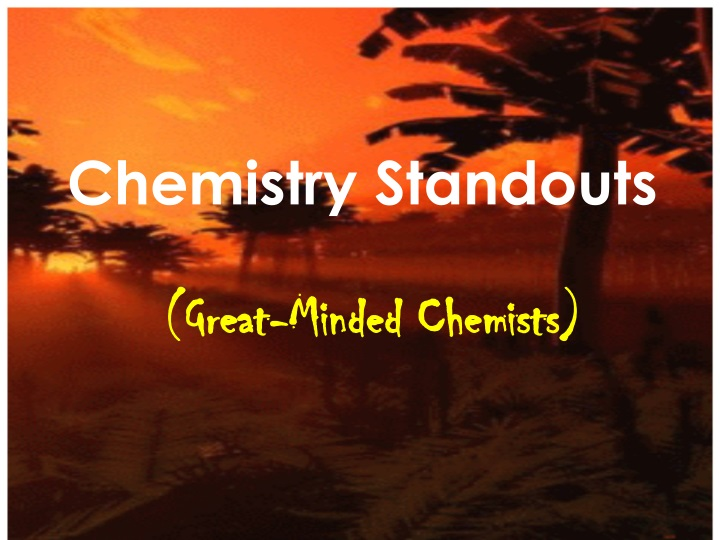chemistry standouts n.