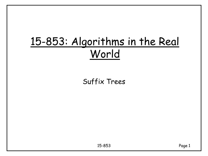 15 853 algorithms in the real world n.