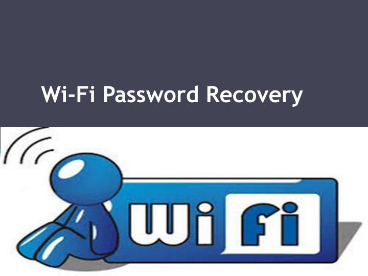 wi fi password recovery n.