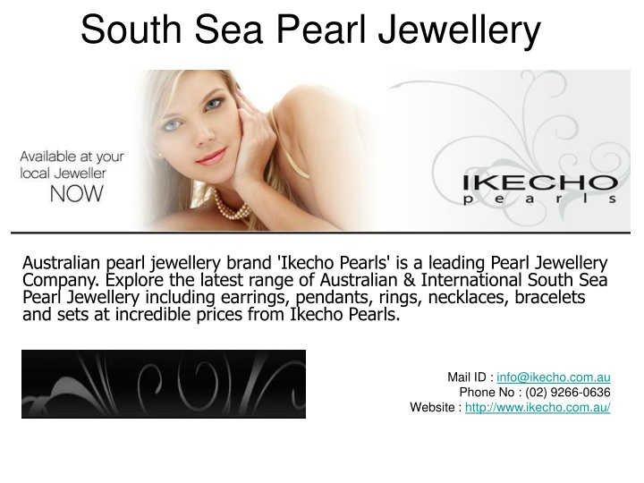south sea pearl jewellery n.