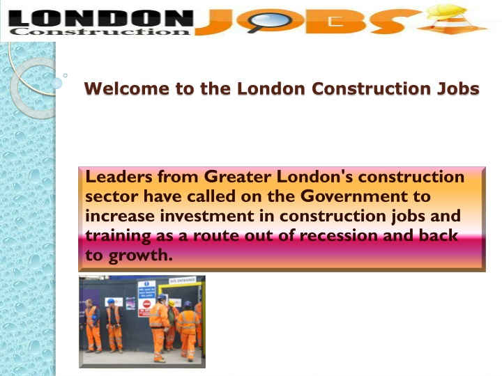 welcome to the london construction jobs n.