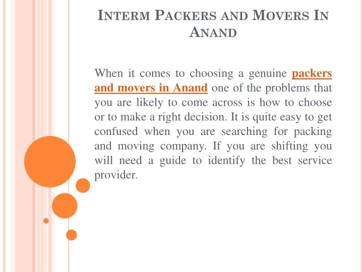 interm packers and movers in anand n.