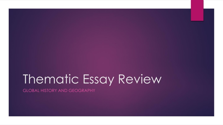 thematic essay review n.