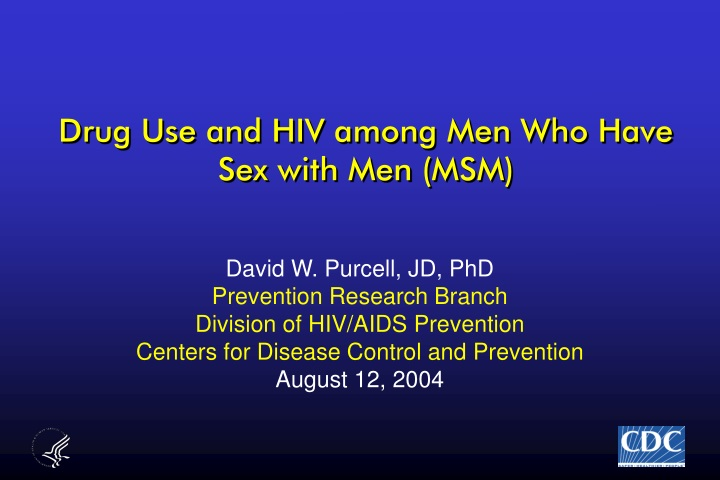 drug use and hiv among men who have sex with men msm n.