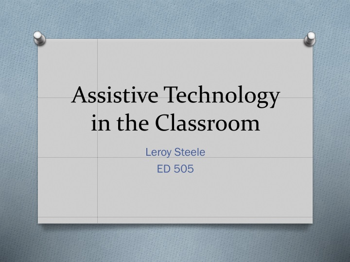 assistive technology in the classroom n.