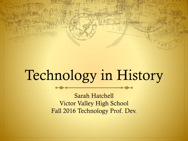 technology in history n.