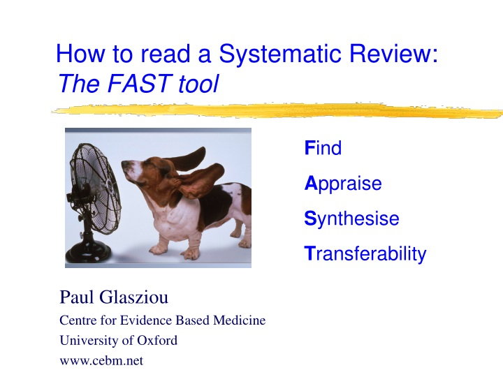how to read a systematic review the fast tool n.