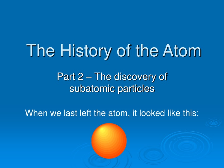 the history of the atom n.