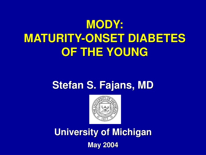mody maturity onset diabetes of the young n.