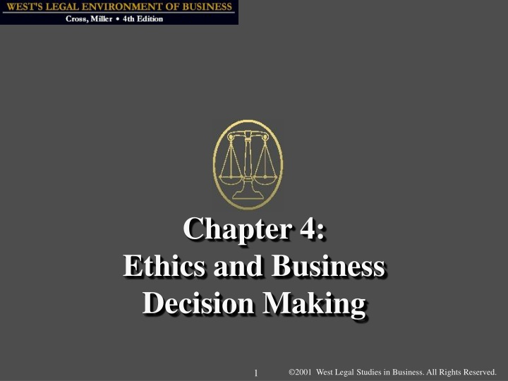 chapter 4 ethics and business decision making n.