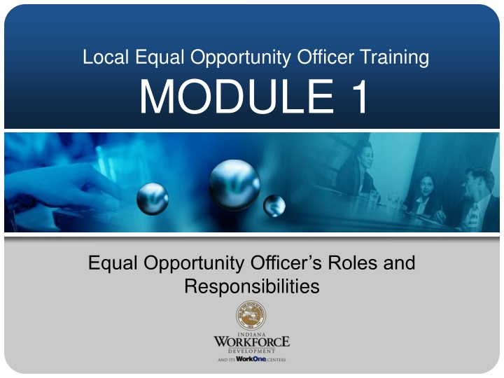 local equal opportunity officer training module 1 n.