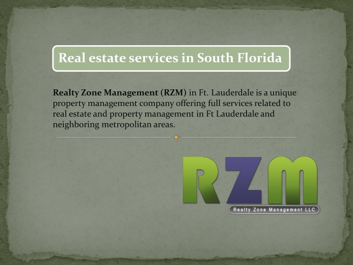 realty zone management rzm in ft lauderdale n.