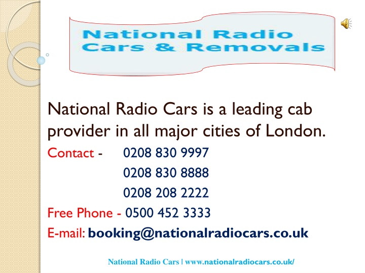 national radio cars is a leading cab provider n.