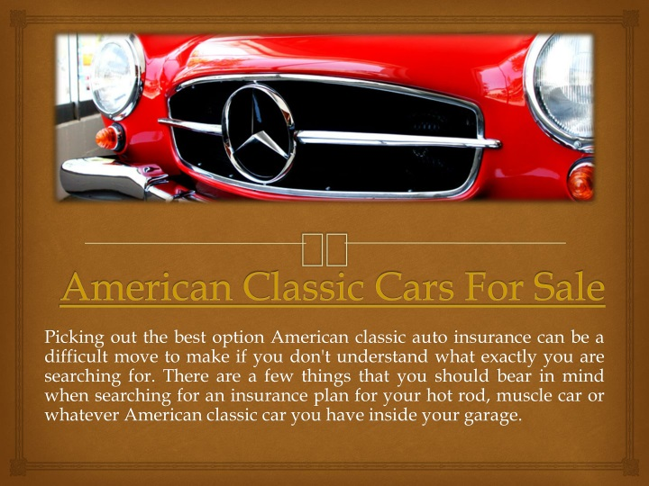 american classic cars for sale n.