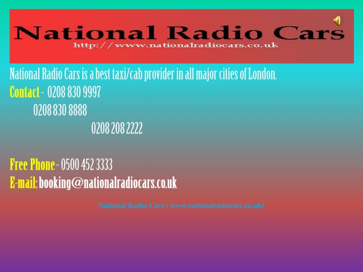 national radio cars is a best taxi cab provider n.