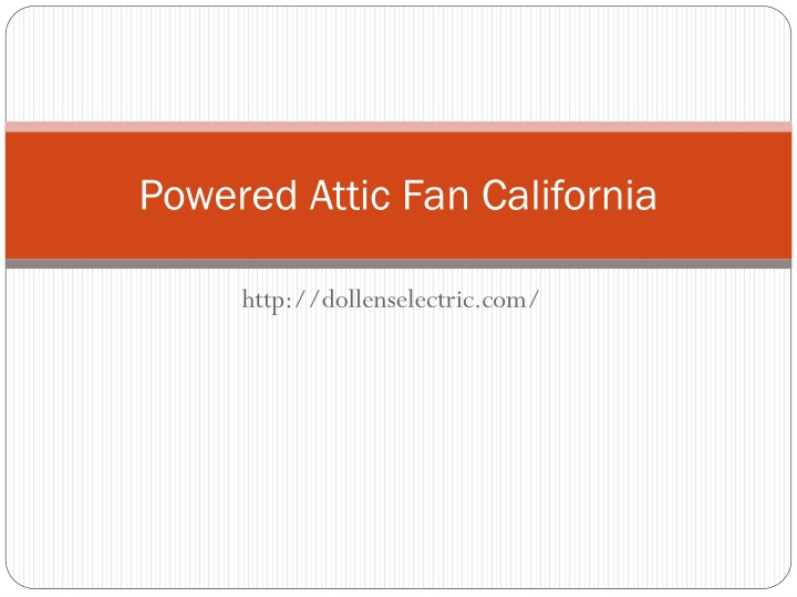 powered attic fan california n.