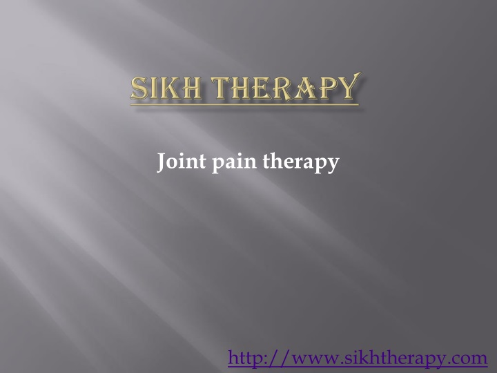 sikh therapy n.