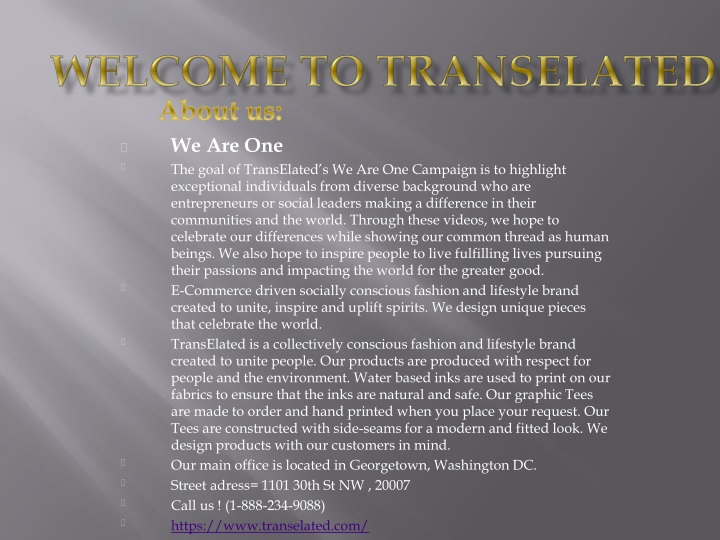 welcome to transelated n.