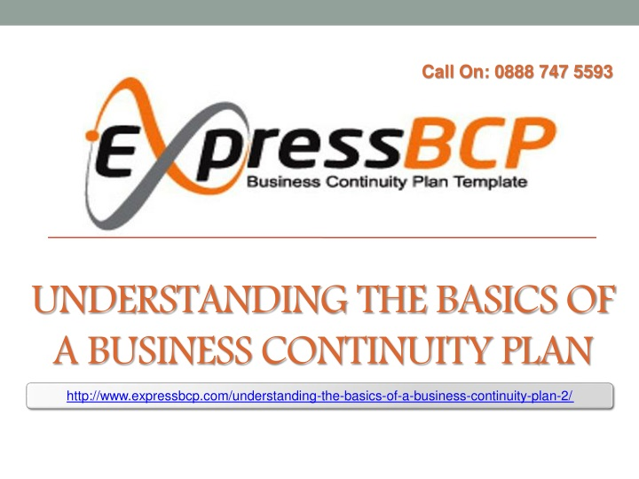 understanding the basics of a business continuity plan n.