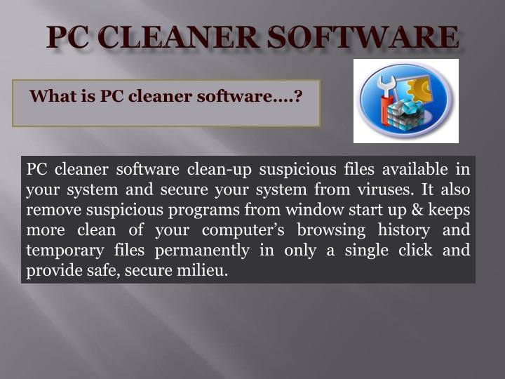 pc cleaner software n.