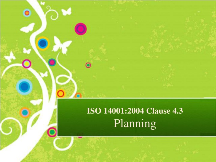 iso 14001 2004 clause 4 3 planning n.