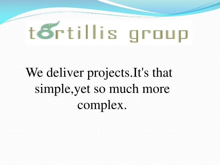 we deliver projects it s that simple yet so much n.