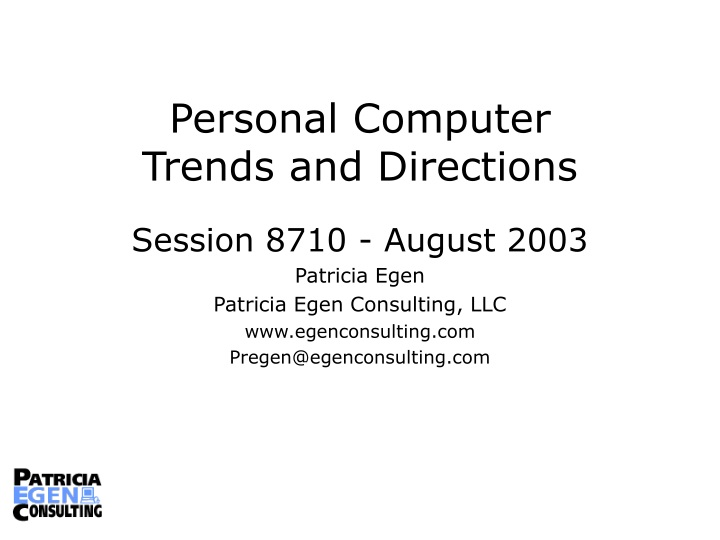 personal computer trends and directions n.