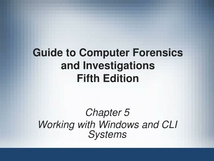 guide to computer forensics and investigations fifth edition n.
