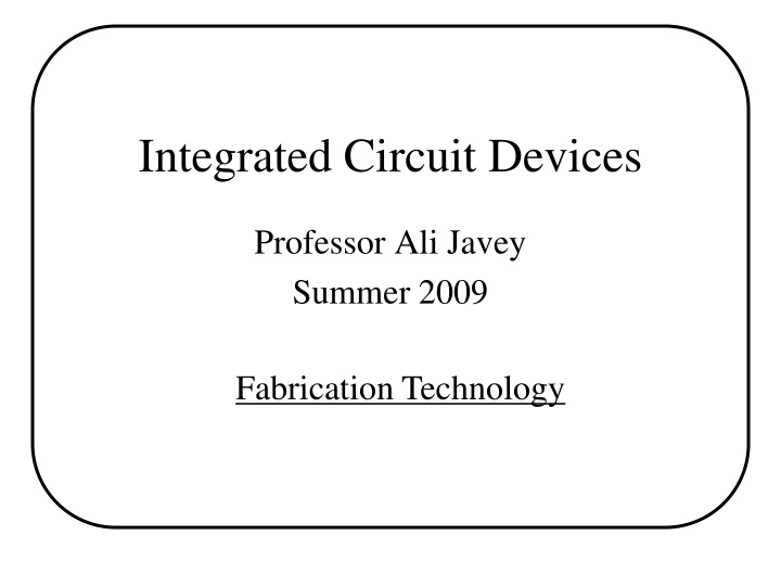 integrated circuit devices n.