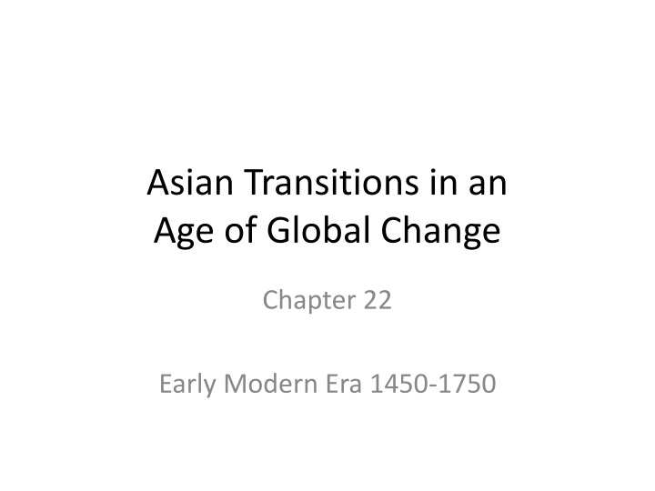 asian transitions in an age of global change n.