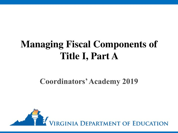 managing fiscal components of title i part a n.