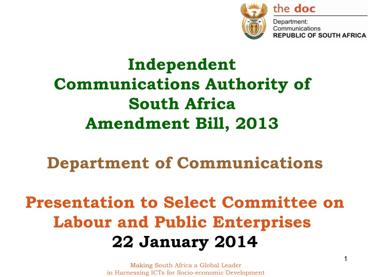 independent communications authority of south n.