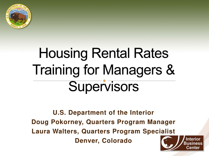 housing rental rates training for managers supervisors n.